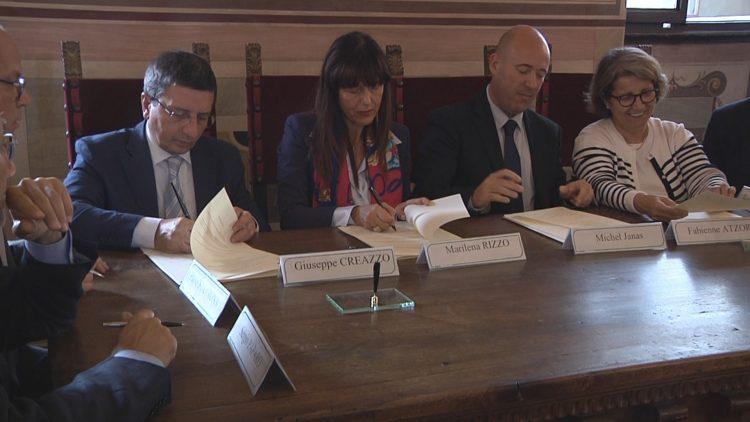 Gemellaggio Tribunali Firenze e Grasse, firma in Palazzo Vecchio